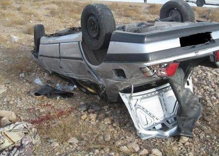 واژگونی خودرو در جاده شهرضا به اصفهان  ۱۳ مصدوم برجاگذاشت