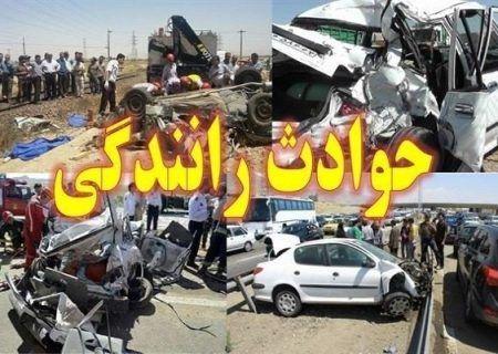 تصادف اتوبوس یک شرکت نفتی ۱۹ فوتی و مصدوم برجا گذاشت