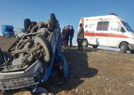 واژگونی خودرو در جاده قدیم کرج-هشتگرد با یک کشته