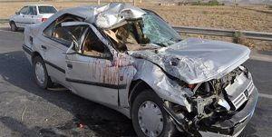 تصادف مرگبار در یزد با 2 کشته و 5 مصدوم