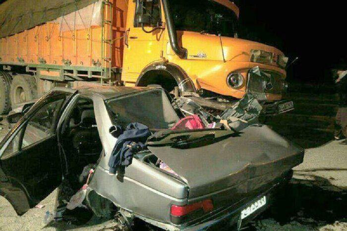 برخورد کامیون و سواری در محور دامغان به سمنان ۲ کشته برجا گذاشت