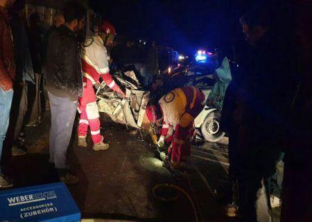 تصادف مرگبار در محور دماوند-فیروزکوه ۷ نفر مصدوم و ۲ نفر فوتی برجا گذاشت