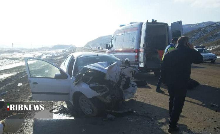 تصادف مرگبار تبریز-اهر بین سواری پژو ۲۰۶ با هیوندای سه کشته بر جا گذاشت