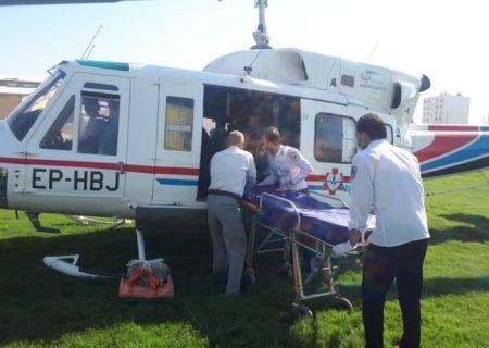 حادثه رانندگی میبد که یک زخمی آن  با بالگرد به یزد اعزام شد