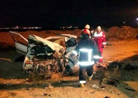 تصادف شدید و مرگبار کاشان ۲ کشته و ۳ مصدوم بر جا گذاشت