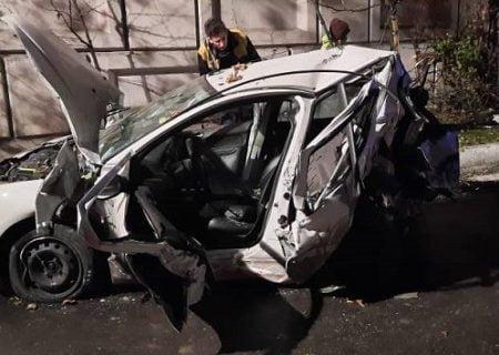 واژگونی پژو ۲۰۶ در رسالت تهران