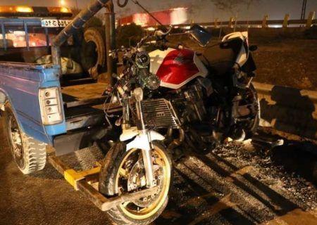 تصادف مرگبار موتور سنگین با عابر پیاده