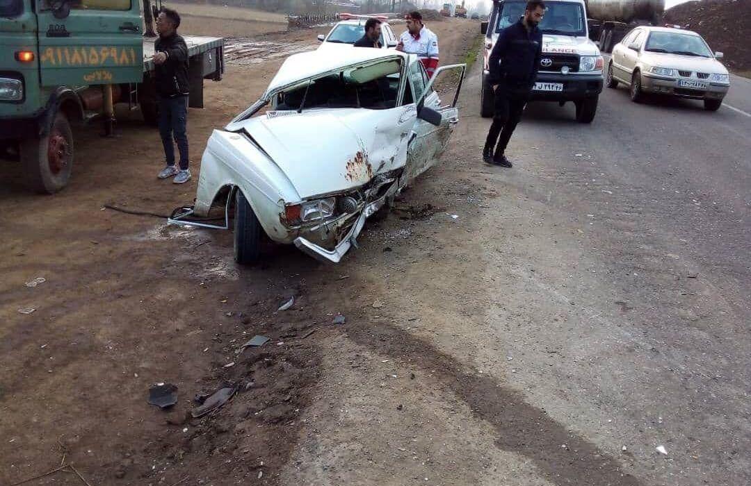 تصادف در محور صومعه سرا به ضیابر ۹ مصدوم به جا گذاشت