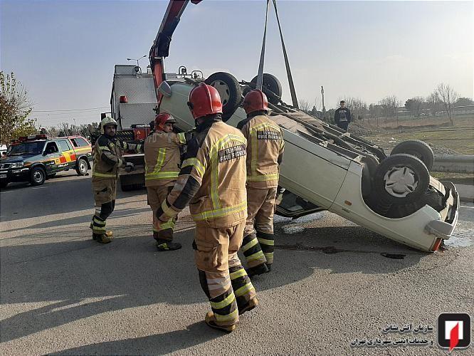 مرگ دلخراش پسر نوجوان در حادثه واژگونی