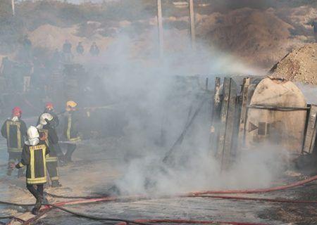 واژگونی تانکر بنزین در بندرعباس با ۳ نفر فوتی