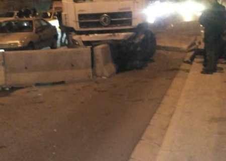 تصادف در بزرگراه امام علی بین ۵ خودرو