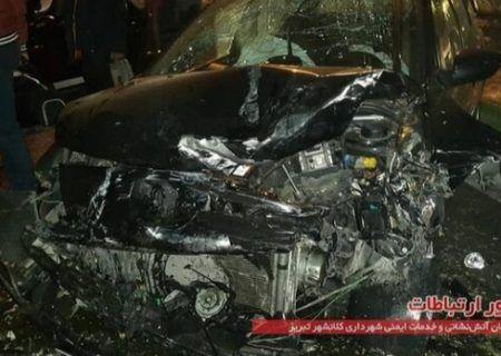تصادف شدید در تبریز، ۵ نفر مصدوم شدند