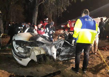 واژگونی خودرو در شیراز ۲ کشته داشت