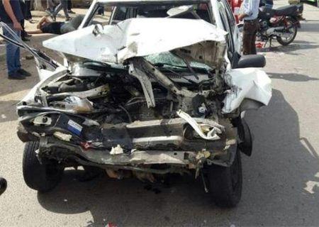 تصادف مرگبار پراید و تریلر در تهران