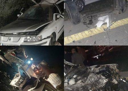 تصادف مرگبار خوزستان با ۱ کشته و ۹ مصدوم