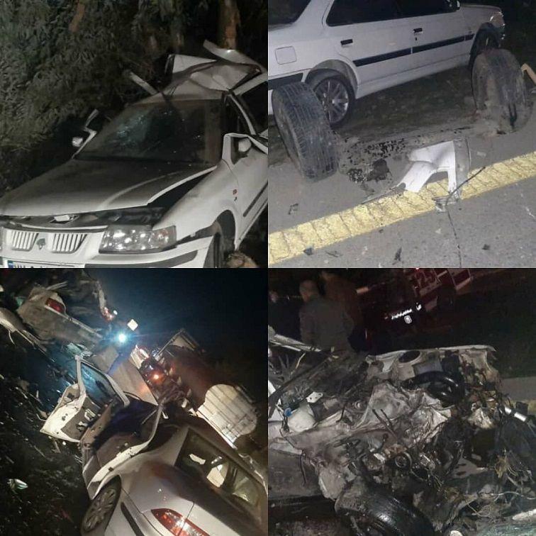 تصادف مرگبار خوزستان با 1 کشته و 9 مصدوم