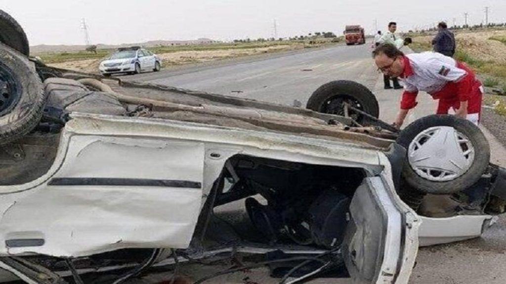 حادثه واژگونی خودرو در همدان-رزن فوتی نداشت