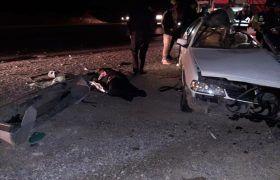 خبر تصادف ، واژگونی خودروی حامل اتباع در اصفهان