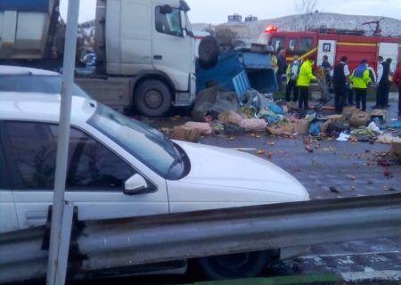تصادف زنجیرهای در آذربایجان شرقی ۲ کشته داشت