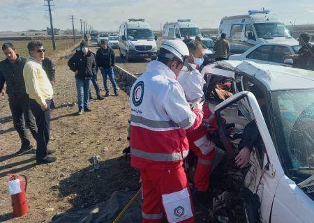 تصادف در شهرستان سراب ۲ کشته و۶ زخمی