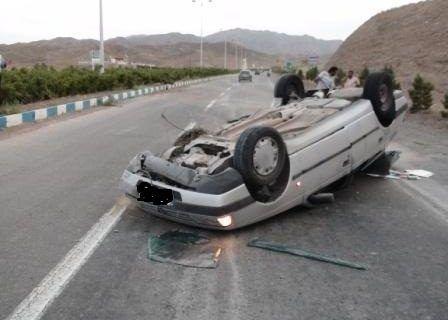 واژگونی پژو در قزوین با یک نفر فوتی