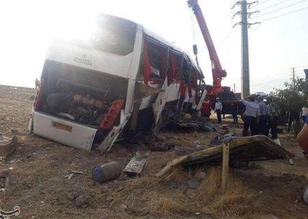 تصادف شدید در اصفهان ۲ فوتی و ۱۵ مصدوم برجای گذاشت
