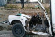 تصادف مرگبار با درخت جان راننده نیسان در جاده خاوران را گرفت