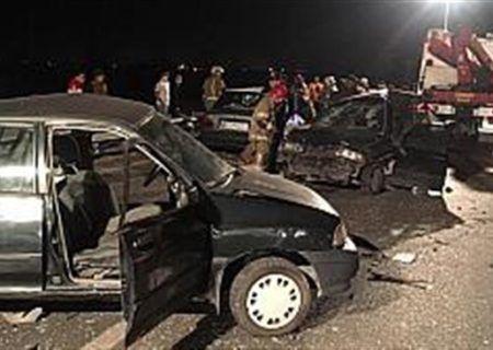 تصادف مرگبار آزادراه تهران-قم دو مصدوم و یک فوتی داشت
