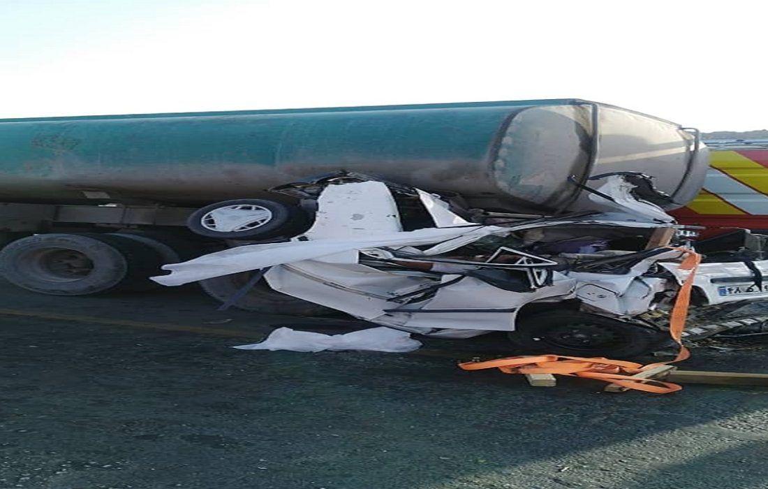 تصادف امروز در جاده بیرجند – زاهدان ۵ کشته از خود برجا گذاشت