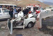 تصادف امروز در محور کامیاران _ یک کشته و ۵ زخمی داشت