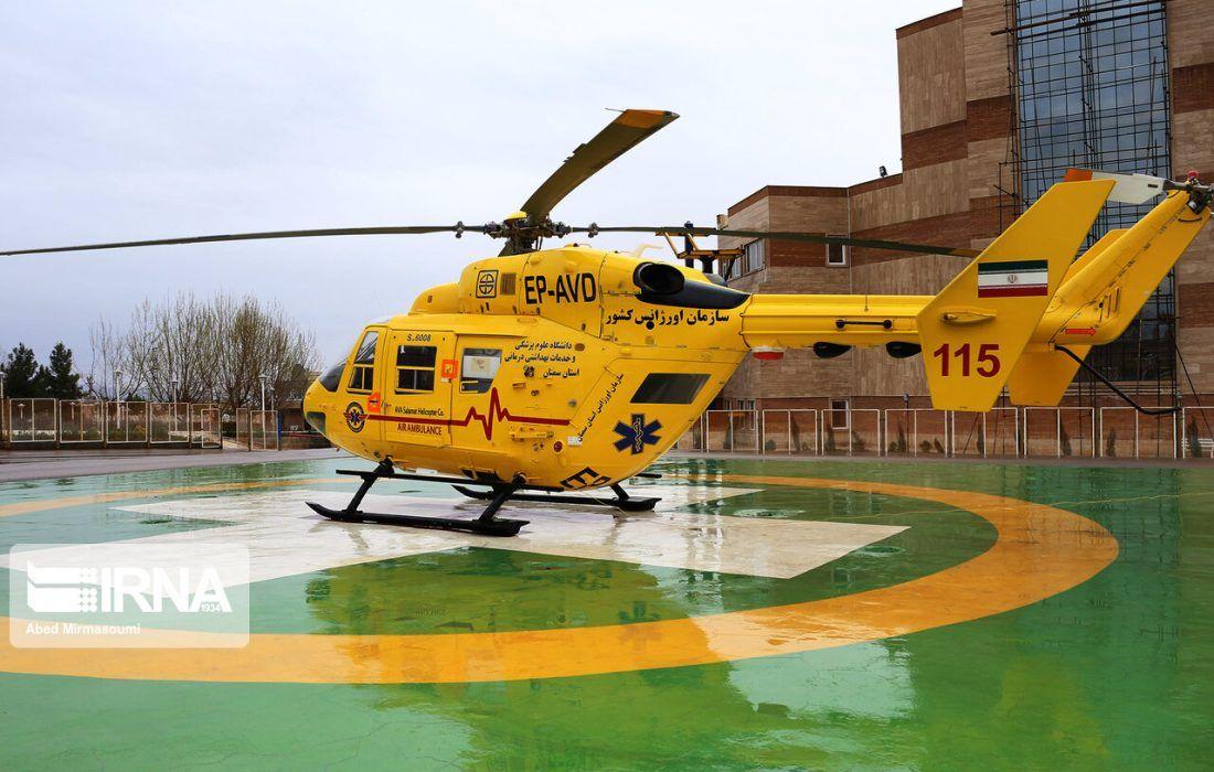 بالگردهای اورژانس ۳۵۲۱ بیمار و مصدوم را به مراکز درمانی منتقل کردند