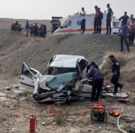 تصادف مرگبار در جهرم منجر به جان باختن دو مرد و مصدومیت دو نفر گردید