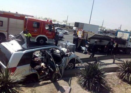 تصادف مرگبار در آزادگان تهران رخ داد ۲ نفر کشته و یک نفر مصدوم شدند