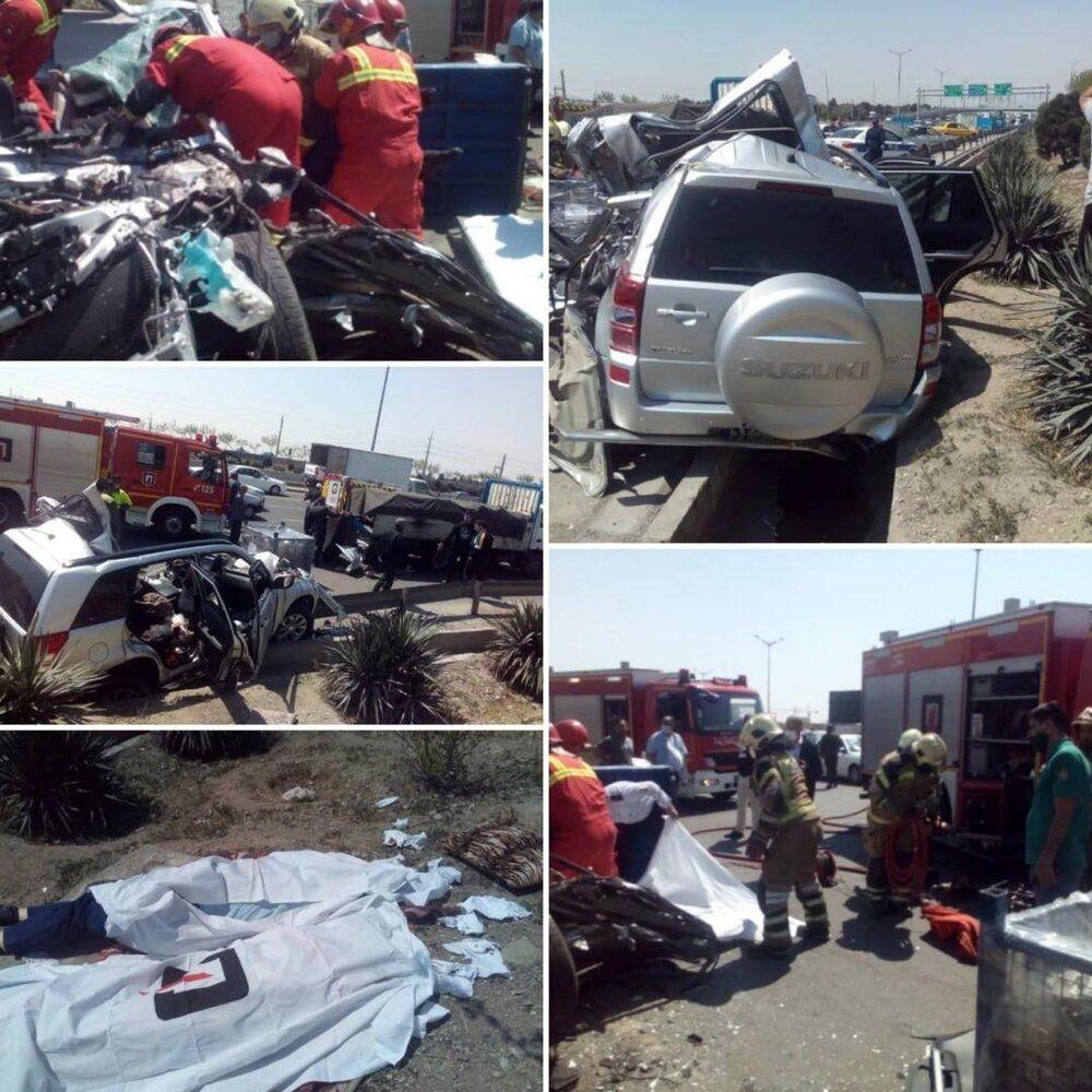 خبر تصادف مرگبار در آزادگان تهران که 2 نفر کشته شدند