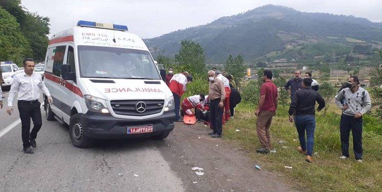 تصادف امروز گهرباران مازندران یک کشته و دو مصدوم از خود برجا گذاشت