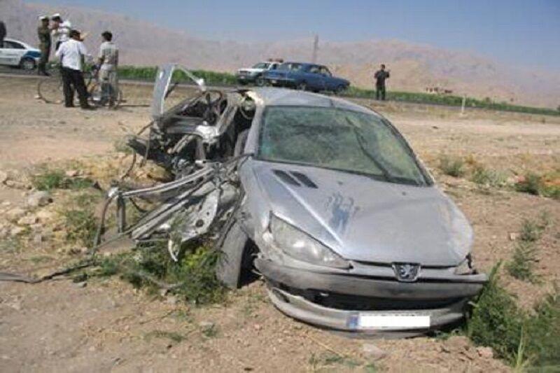 تصادف مرگبار کرج – قزوین  یک کشته و یک مصدوم برجای گذاشت