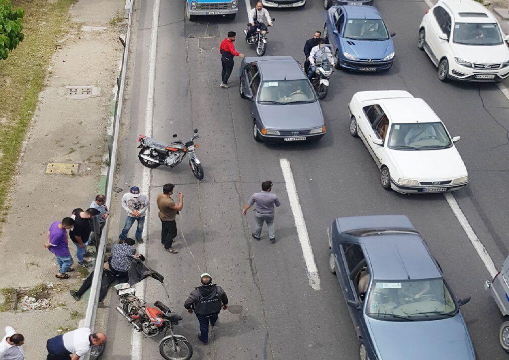 خبر بیشترین آمار تصادفات مرگبار در  تهران مربوط به  تصادف موتورسواران می باشد