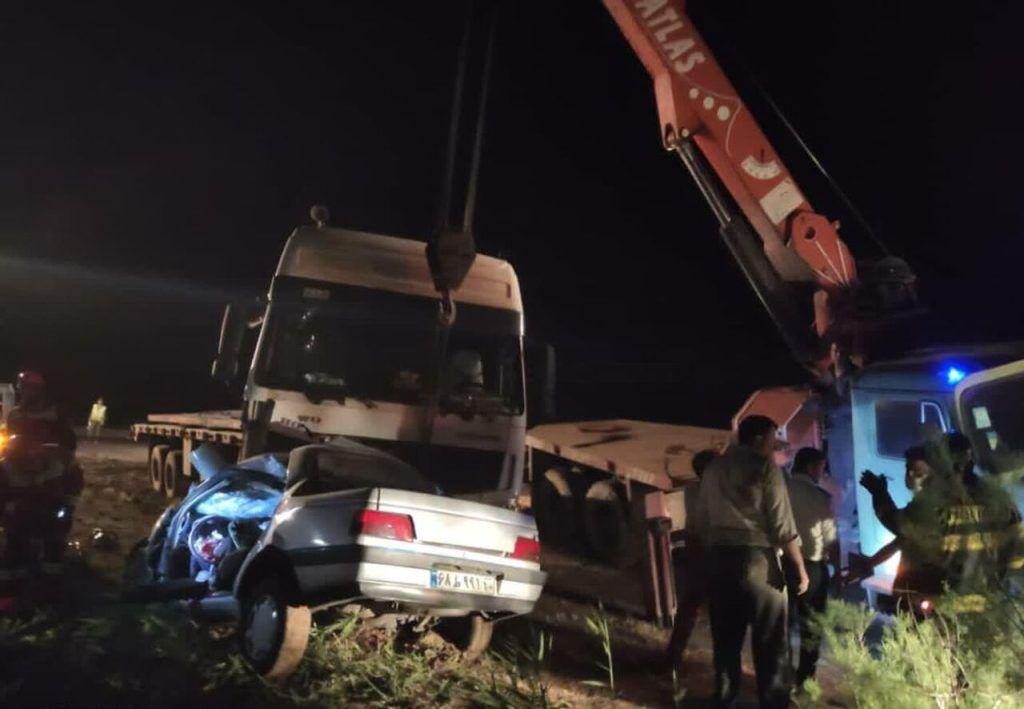 خبر تصادف مرگبار ورامین-چرمشهر که ۳ کشته داشت