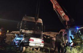 تصادف مرگبار ورامین-چرمشهر ۳ کشته و ۲ مصدوم برجای گذاشت