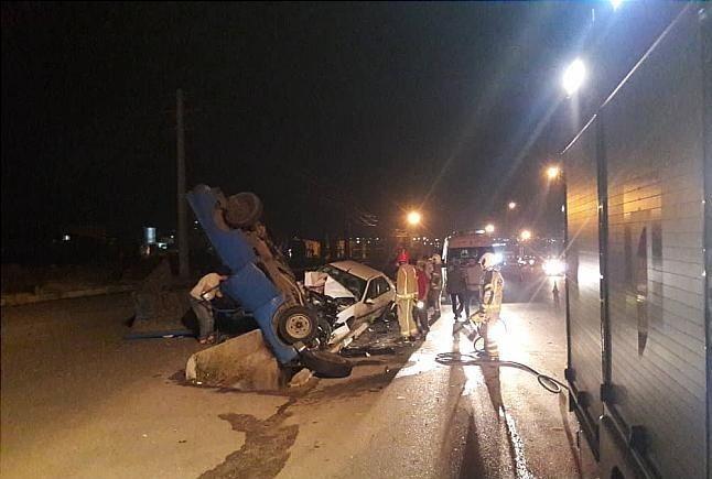 تصادف مرگبار جاده خاوران ، خسارت مالی از خود بر جای گذاشت