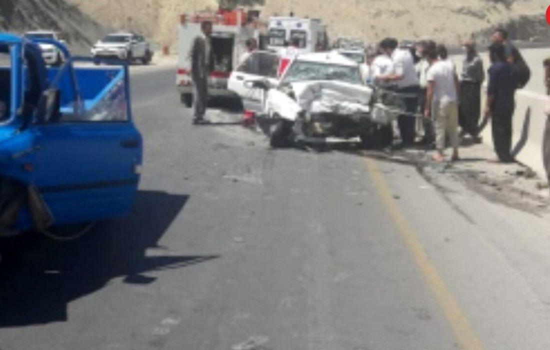 تصادفات مرگبار در ایلام جان دو راننده خودرو را به کام مرگ کشاند