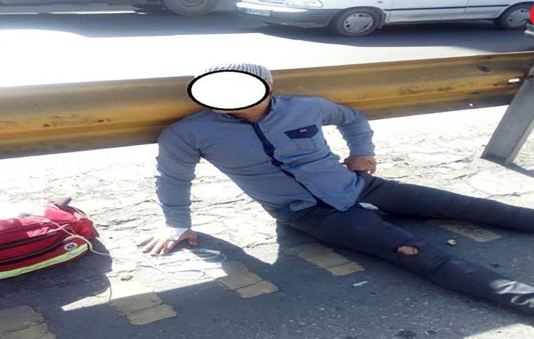 تصادف امروز امام علی تهران ، منجر به مصدوم شدن یک نفر گردید