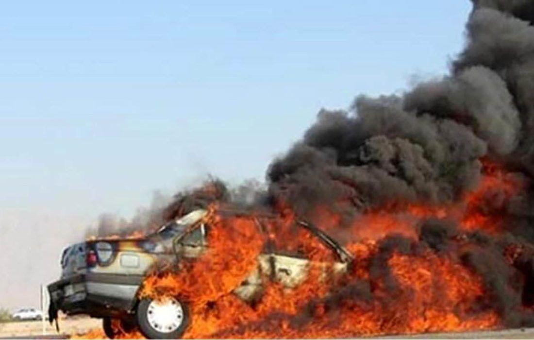 تصادف مرگبار امروز کرمانشاه  ۲ نفر فوتی از خود برجا گذاشت