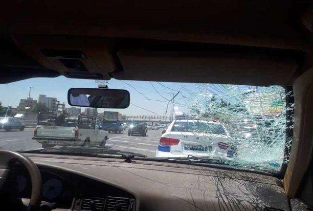 تصادف امروز بزرگراه چمران باعث ترافیک سنگین  شد