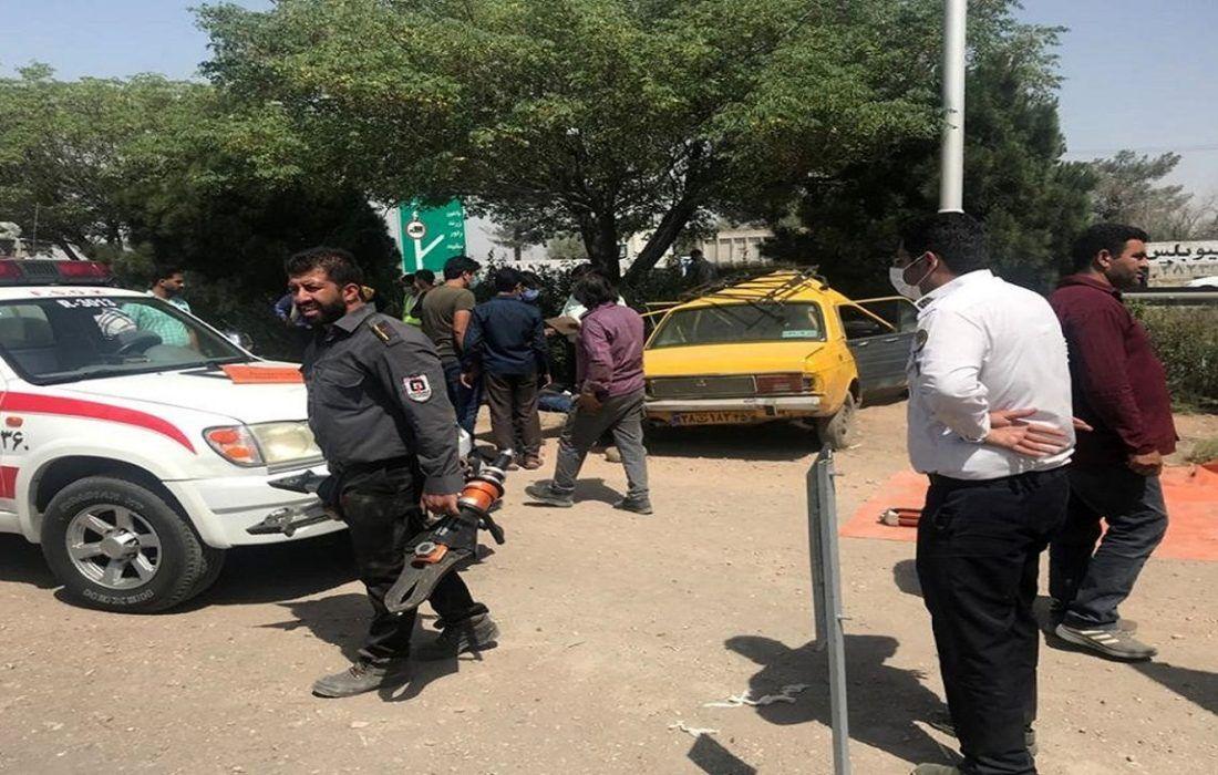 تصادف مرگبار امروز در کرمان یک نفر در دم جان باخت