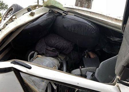 تصادف مرگبار تهران ،منجر به واژگونی خودرو در بزرگراه امام علی (ع) گردید