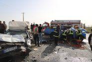 تصادف مرگبار جاده کاشان-قم ۲ کشته و ۴ مصدوم بر جای گذاشت