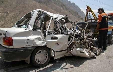 تصادف مرگبار امروز کرمان در جاده کوهپایه پنج کشته برجای گذاشت