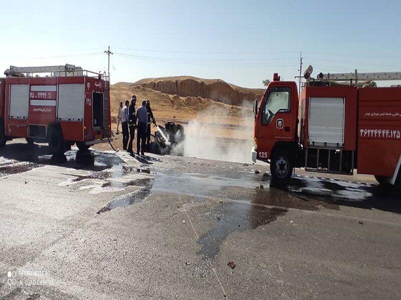 تصادف مرگبار امروز خوزستان در جاده شوشتر-مسجدسلیمان ۴ کشته برجا گذاشت