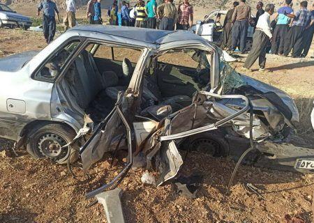 تصادف مرگبار امروز روانسر در شمال غربی کرمانشاه ۲ کشته بر جای گذاشت